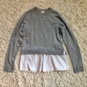 H&M Long Sleeve Sweater With Flouncy Cotton Trim
